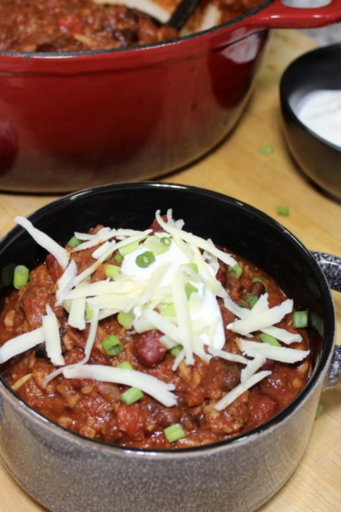 thick and hearty homemade chili
