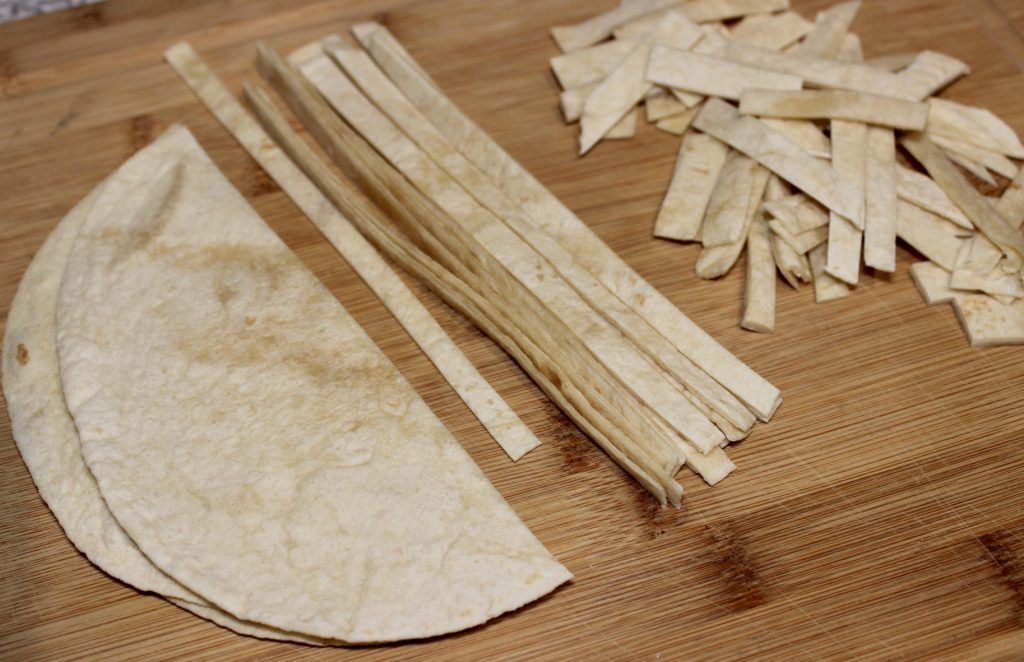 toasted tortilla strips