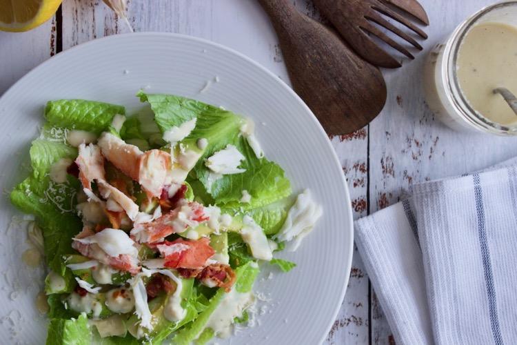 crab avocado caesar salad