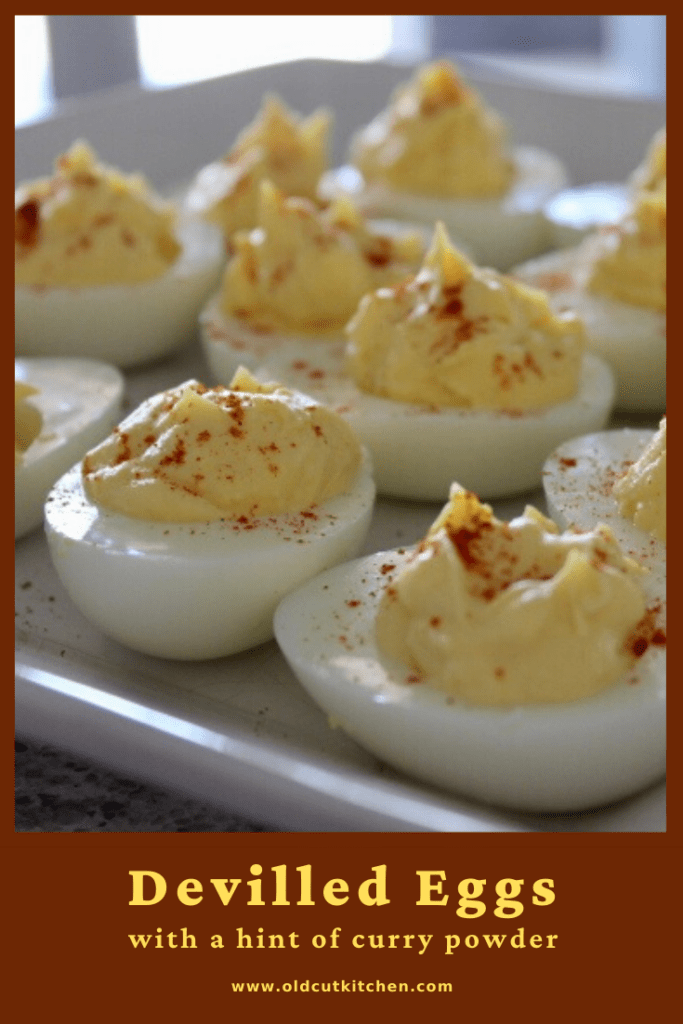 devilled eggs with a hint of curry