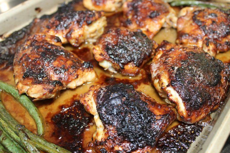 chicken thighs in peanut sauce