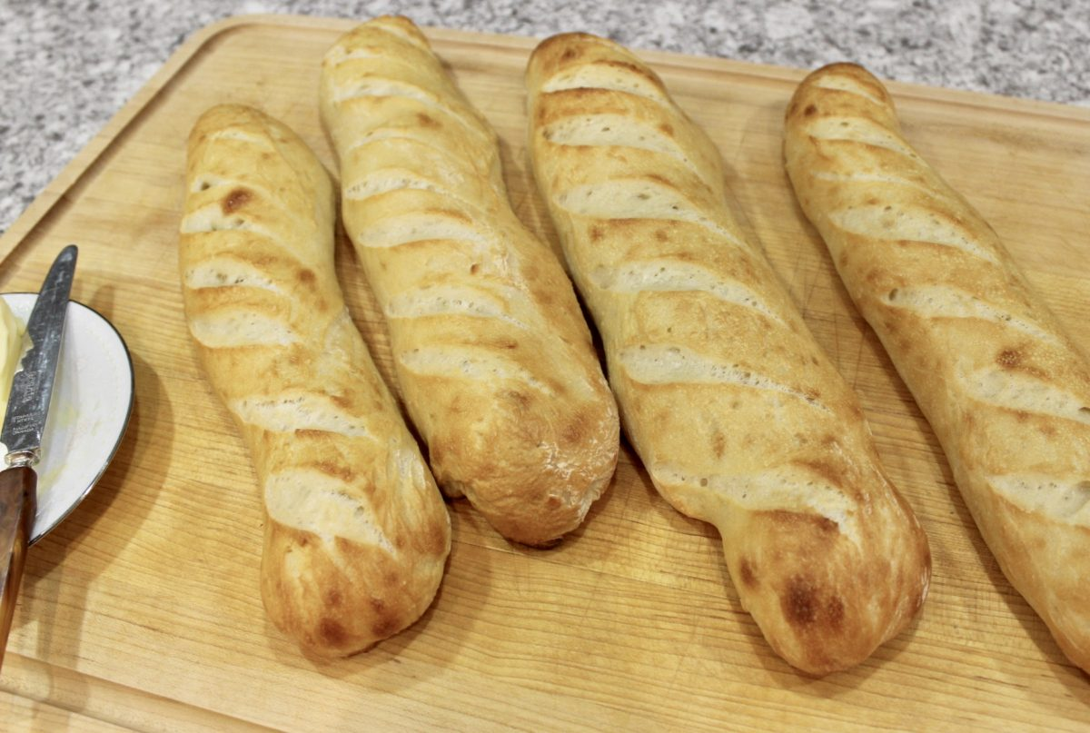 french baguette homemade bread