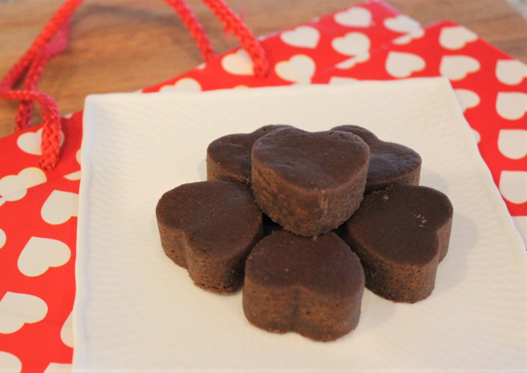chocolate peanut butter fudge hearts