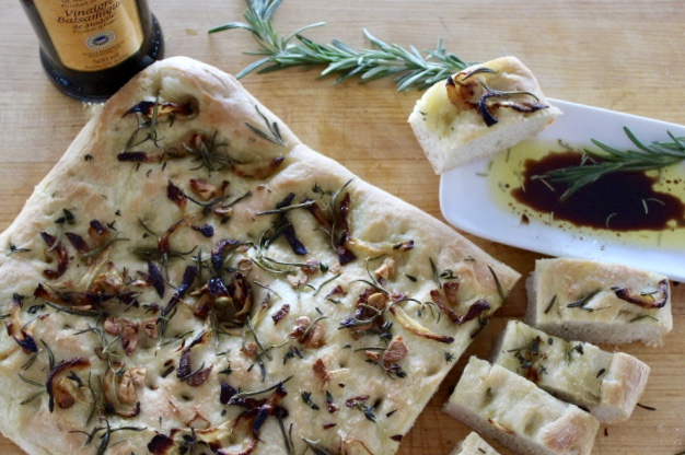 easy herb and onion focaccia bread