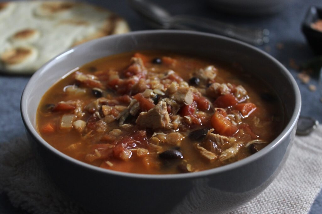 tomato lentil soup with chicken
