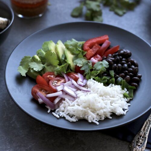 rice and black bean bowl